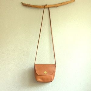 Vintage Coach, Small Leather Crossbody